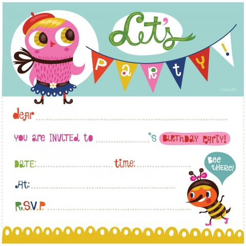 004 Best Free Birthday Party Invitation Template For Word Image 480