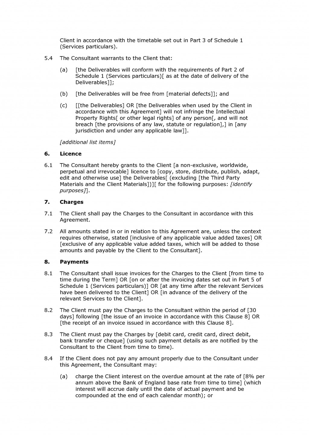 004 Best Free Consulting Agreement Template Example  Word South Africa UkLarge