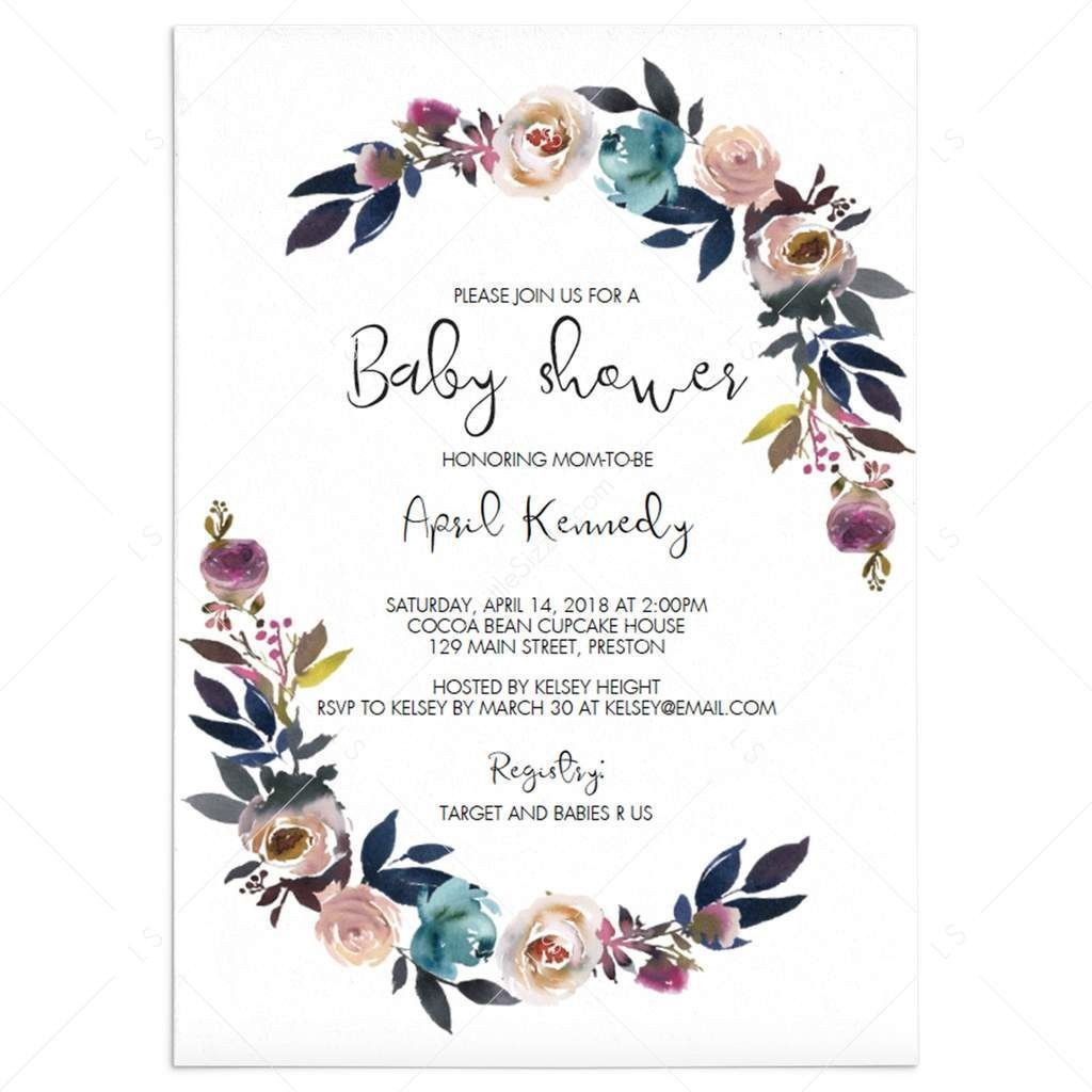 004 Best Free Editable Baby Shower Invitation Template For Word Highest Clarity  MicrosoftLarge