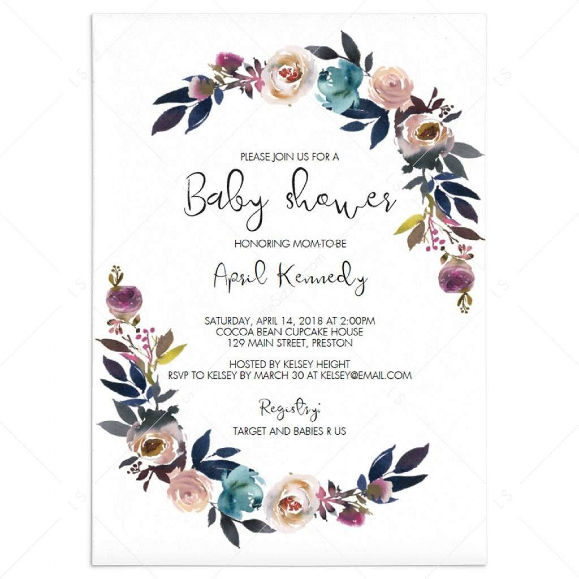 004 Best Free Editable Baby Shower Invitation Template For Word Highest Clarity  Microsoft1920