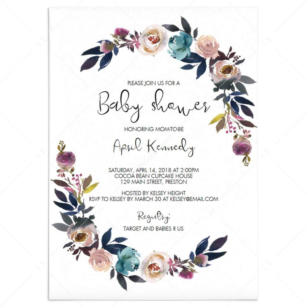 004 Best Free Editable Baby Shower Invitation Template For Word Highest Clarity  MicrosoftFull