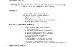 004 Best Free High School Graduate Resume Template Image  Templates