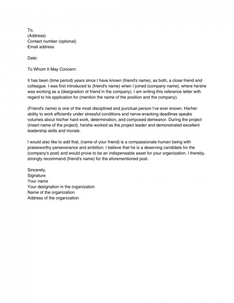 004 Best Free Reference Letter Template For Tenant Concept 480