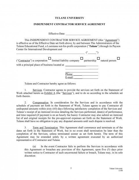 004 Best Free Service Contract Template Download High Definition  Level Agreement Ndi480