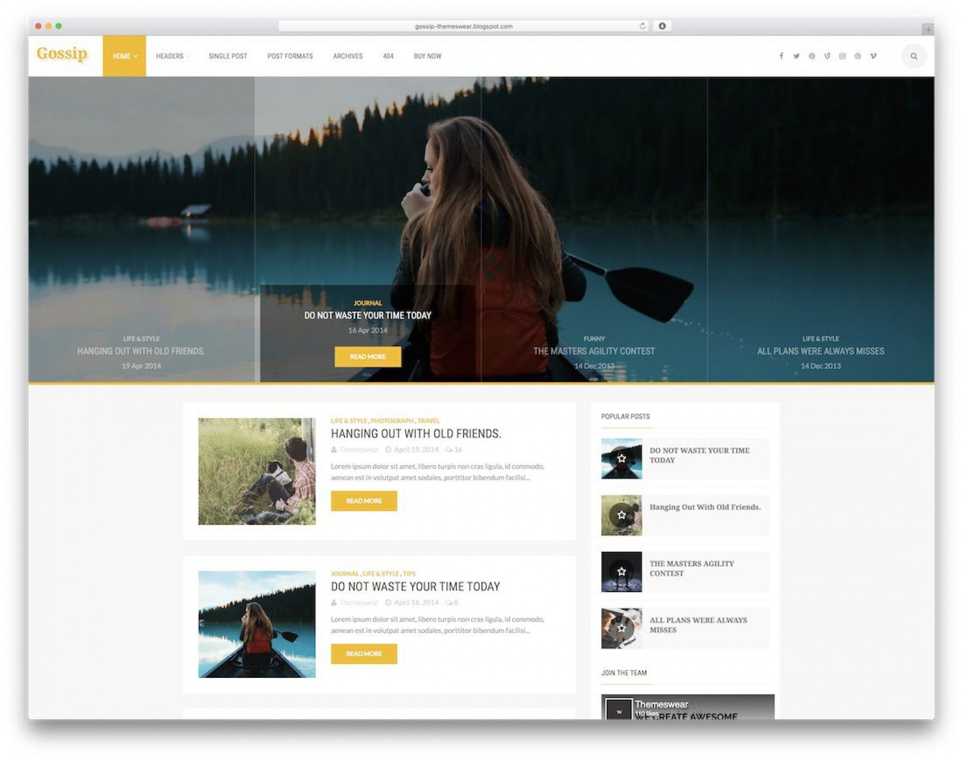 004 Best Free Template For Blogger Inspiration  Blog Photographer Xml Download1920