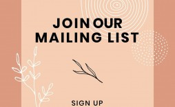 004 Best Join Our Mailing List Template High Definition  Email