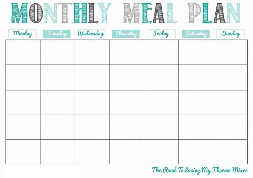 004 Best Meal Plan Calendar Template Highest Quality  Free Word