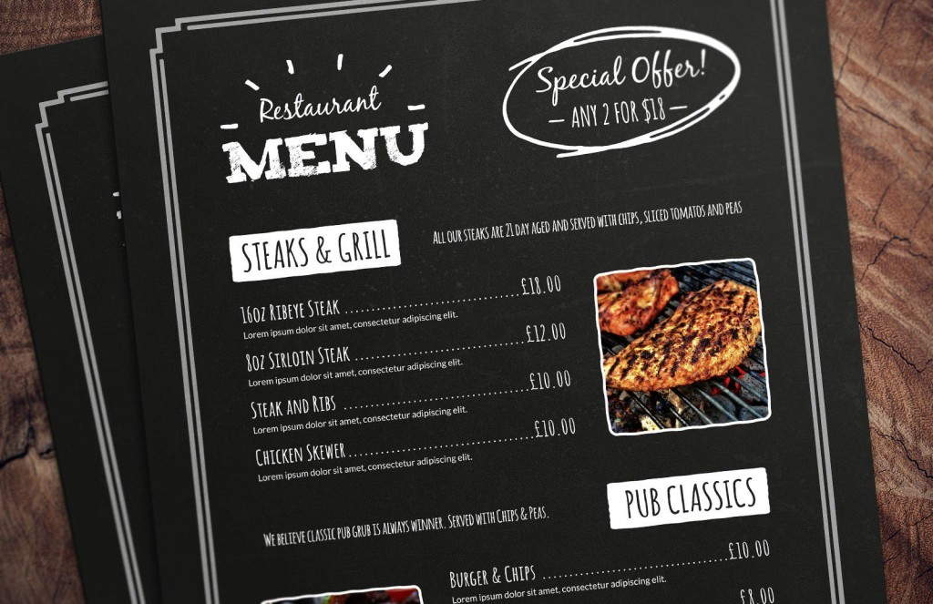 004 Best Menu Template Free Download For Restaurant Highest Clarity  Word PsdLarge