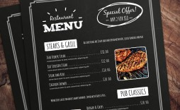 004 Best Menu Template Free Download For Restaurant Highest Clarity  Word Psd