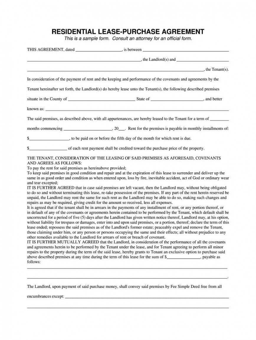 004 Best Rent To Own Template Design  Agreement South Africa Pdf Free Contract Canada