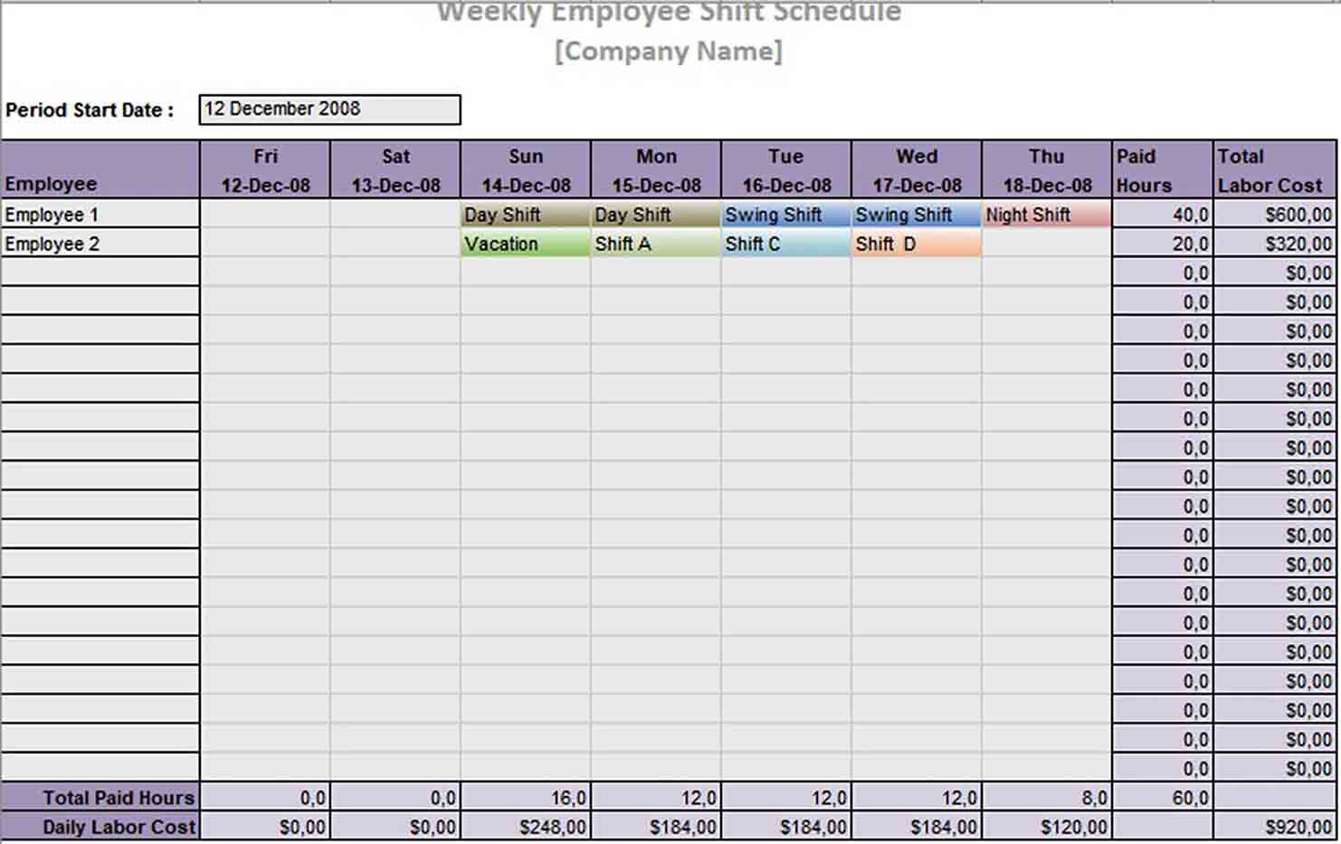004 Best Rotating Work Schedule Example Concept  Examples ShiftFull