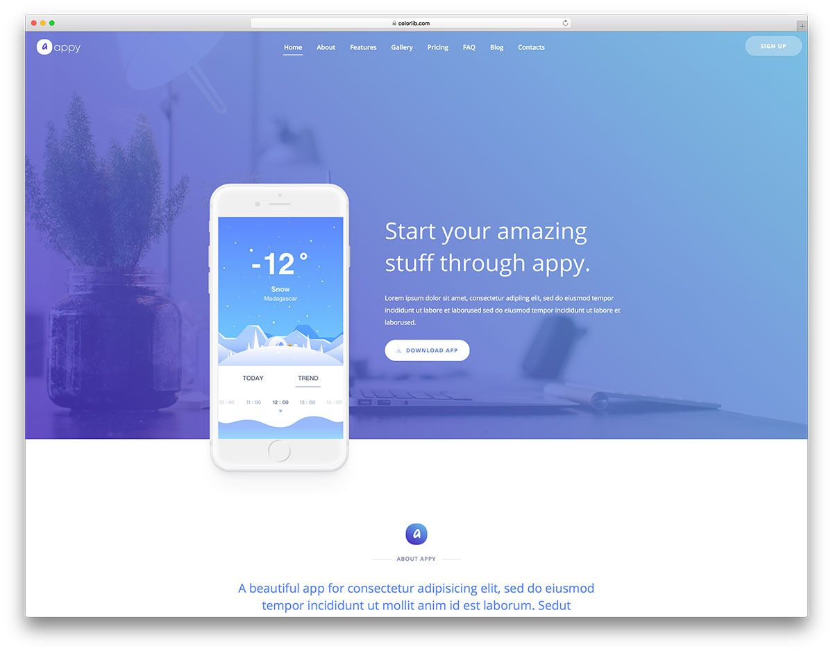 004 Best Simple Html Responsive Website Template Free Download Inspiration  With Cs BootstrapFull