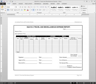 004 Best Travel Expense Report Template Sample  Format Excel Free320