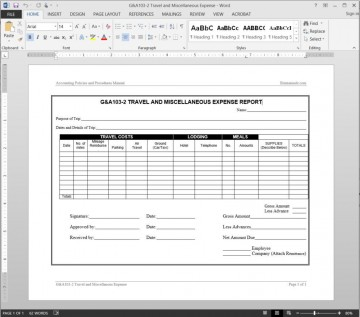 004 Best Travel Expense Report Template Sample  Format Excel Free360