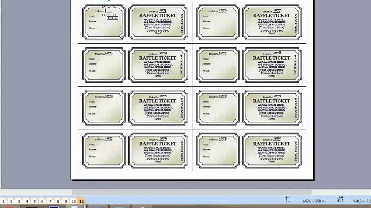 004 Best Word Raffle Ticket Template High Resolution  2010 Free Printable MicrosoftFull