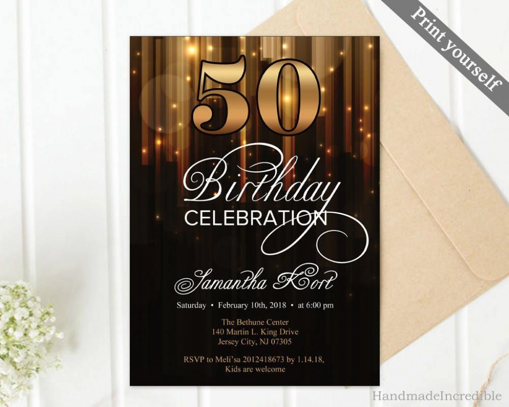004 Breathtaking 50th Birthday Invitation Template Concept  For Him Microsoft Word FreeLarge