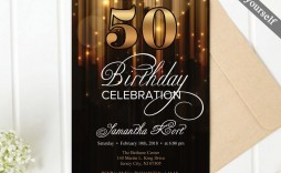 004 Breathtaking 50th Birthday Invitation Template Concept  For Him Microsoft Word Free