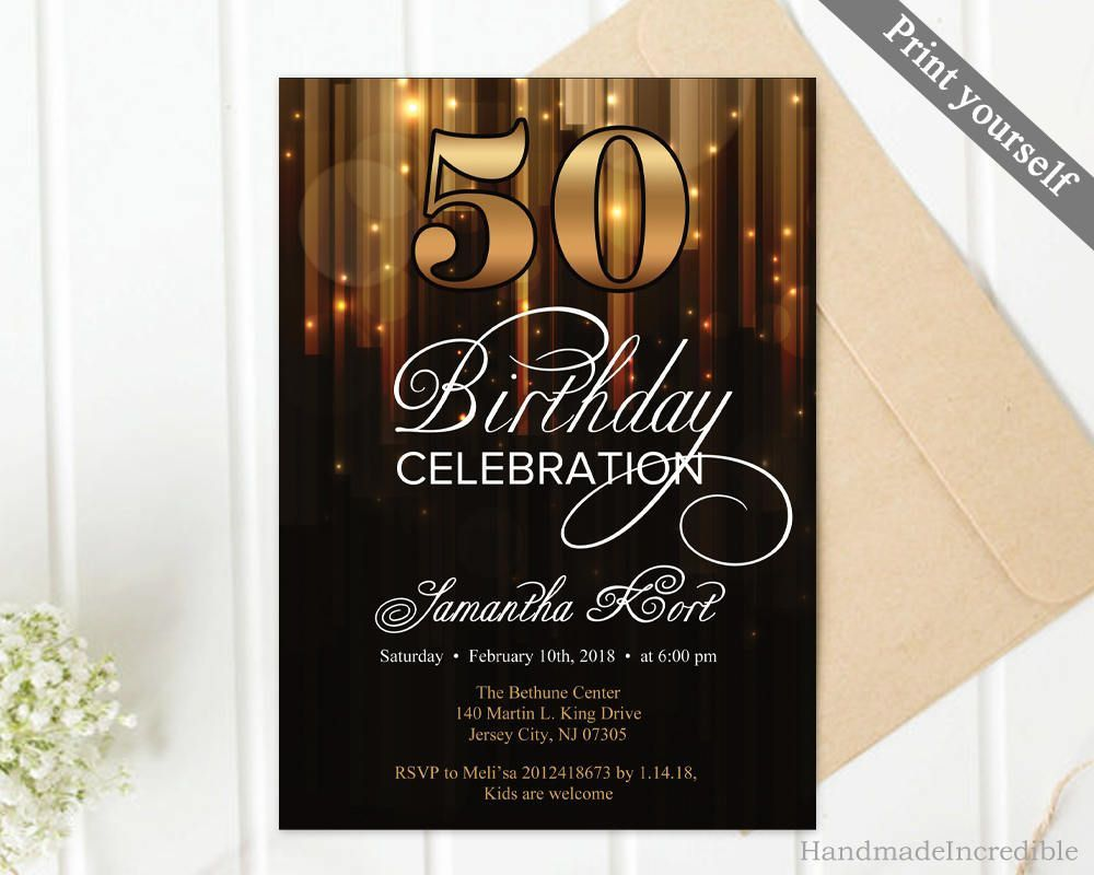 004 Breathtaking 50th Birthday Invitation Template Concept  For Him Microsoft Word FreeFull