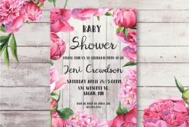 004 Breathtaking Baby Shower Invitation Girl Free Printable Picture  Twin