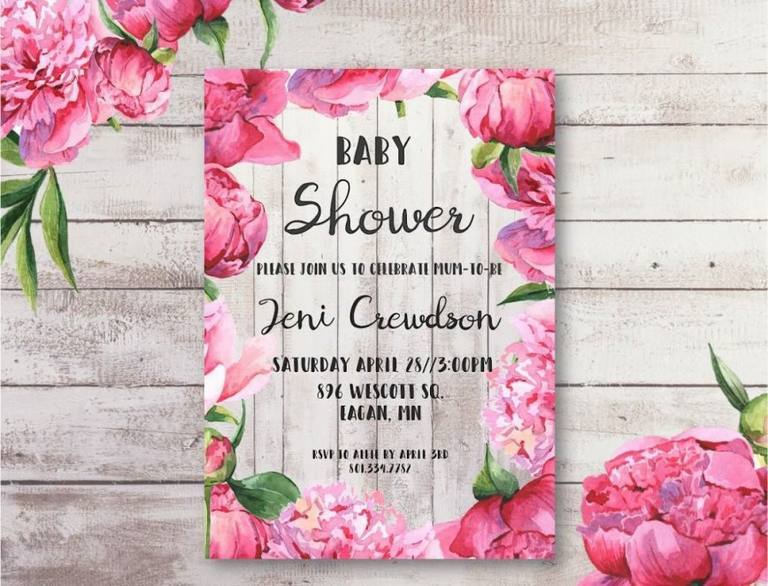 004 Breathtaking Baby Shower Invitation Girl Free Printable Picture  Twin868