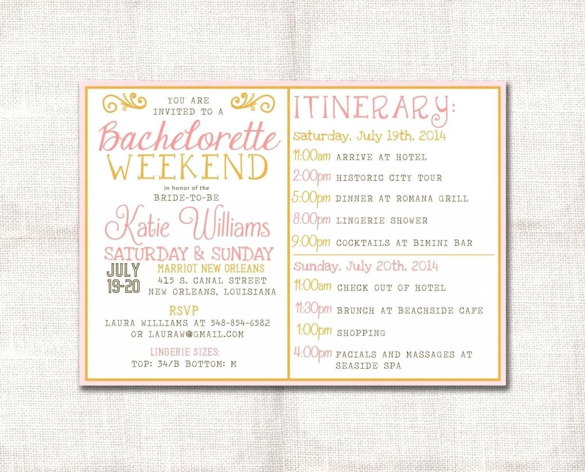 004 Breathtaking Bachelorette Itinerary Template Free Image  Party Editable Download1920