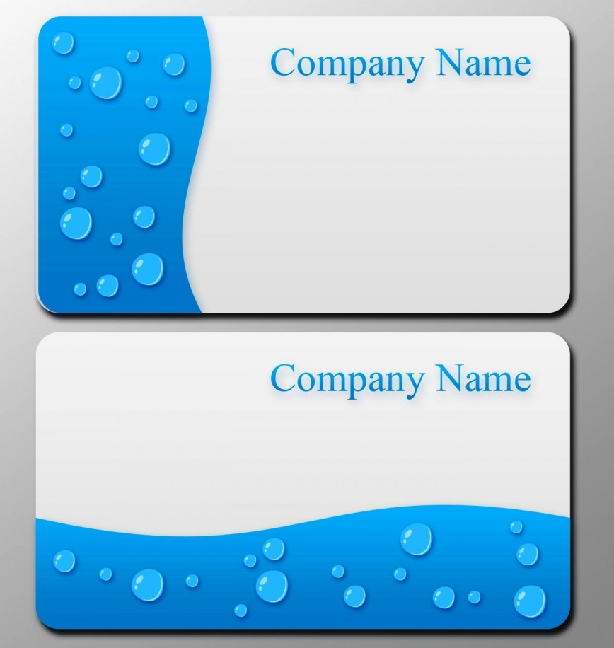 Business Card Blank Template Addictionary