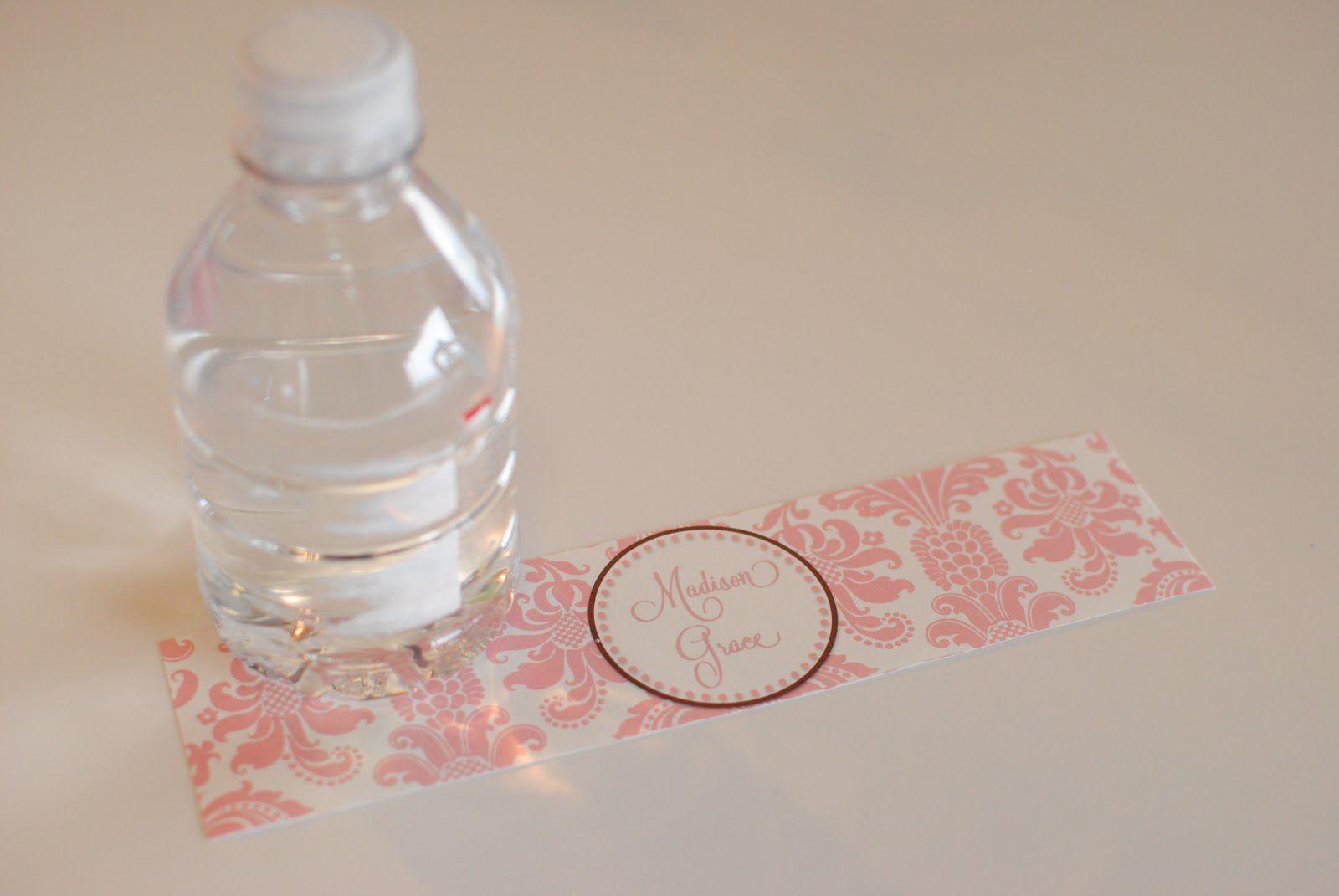 004 Breathtaking Diy Water Bottle Label Template Free High Def Full