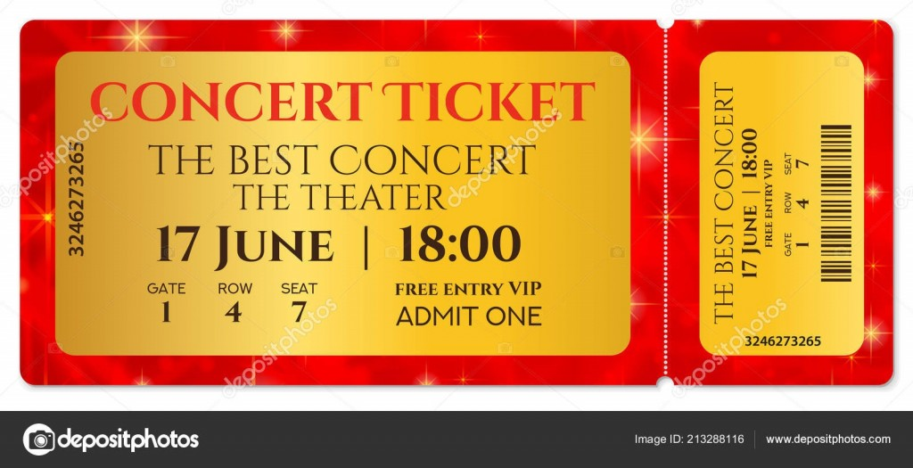 004 Breathtaking Free Fake Concert Ticket Template Example Large