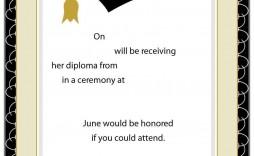 004 Breathtaking Free Printable Graduation Invitation Template High Resolution  Templates Kindergarten Preschool Party For Word