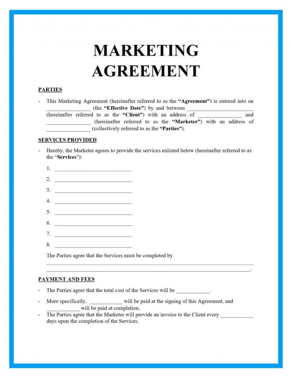 004 Breathtaking Free Service Contract Template Doc Highest Quality Large