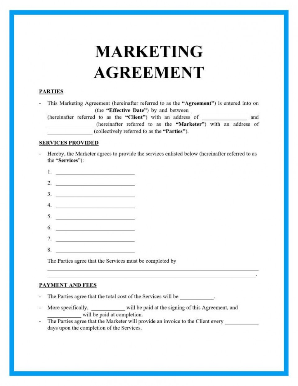 004 Breathtaking Free Service Contract Template Doc Highest Quality 960