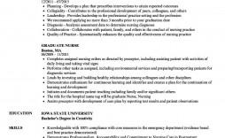 004 Breathtaking Graduate Nurse Resume Template Picture  Student Free New Practitioner Grad
