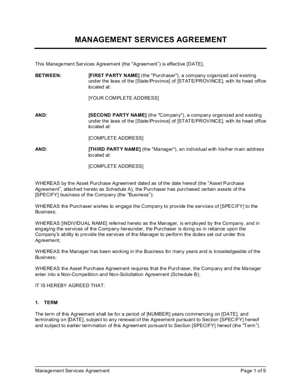 004 Breathtaking Master Service Agreement Template Design  Free AustraliaFull