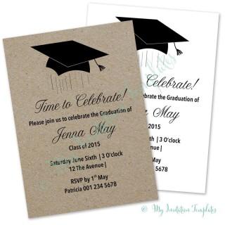 004 Breathtaking Microsoft Word Graduation Invitation Template Concept  Party320