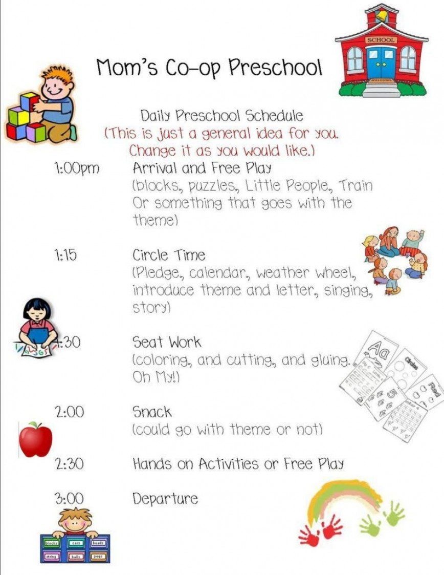 004 Breathtaking Preschool Daily Schedule Template Idea  Lesson Plan Pdf Planner