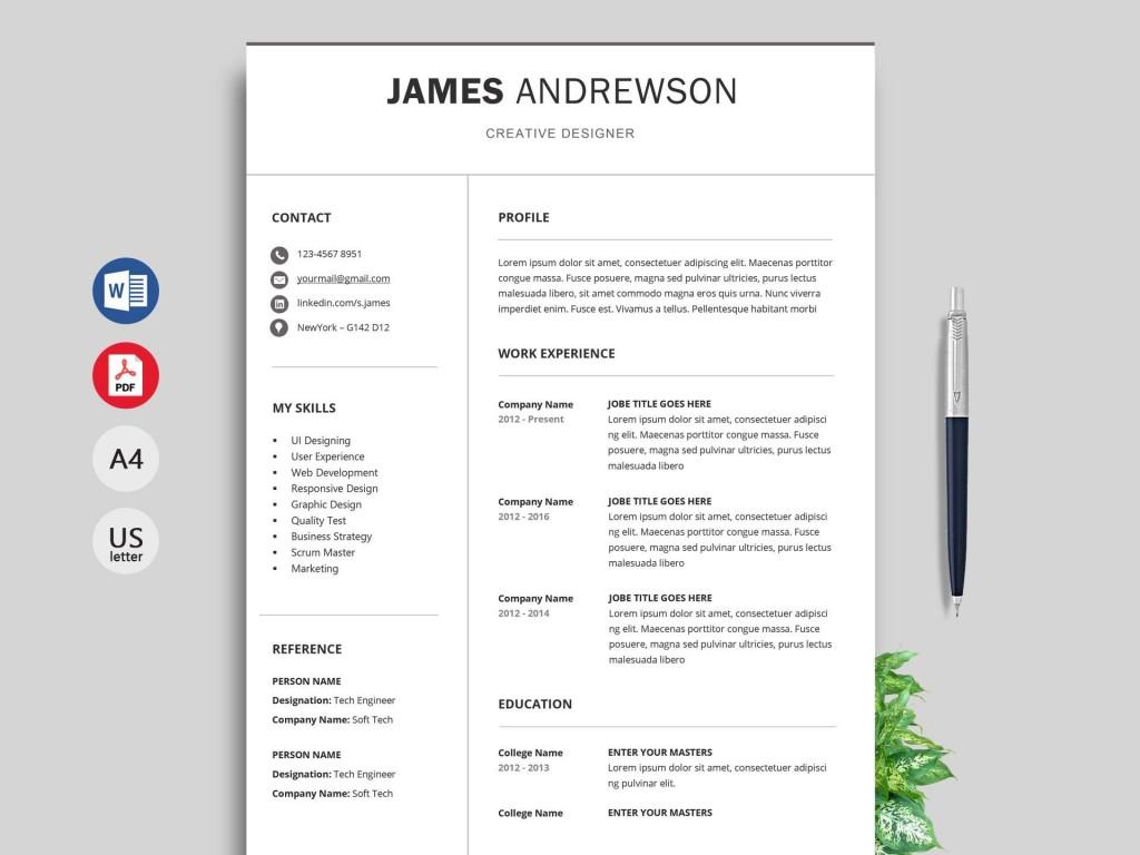 004 Breathtaking Professional Cv Template Free Word Image  Uk Best Resume DownloadLarge