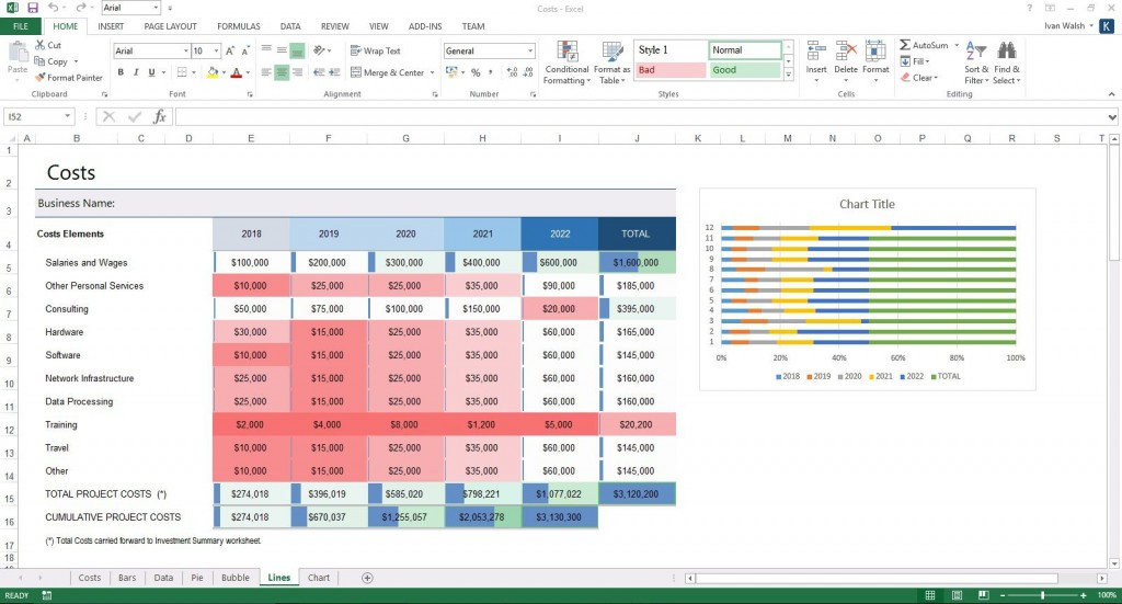 004 Dreaded Busines Plan Template Excel Inspiration  Financial Free ContinuityLarge