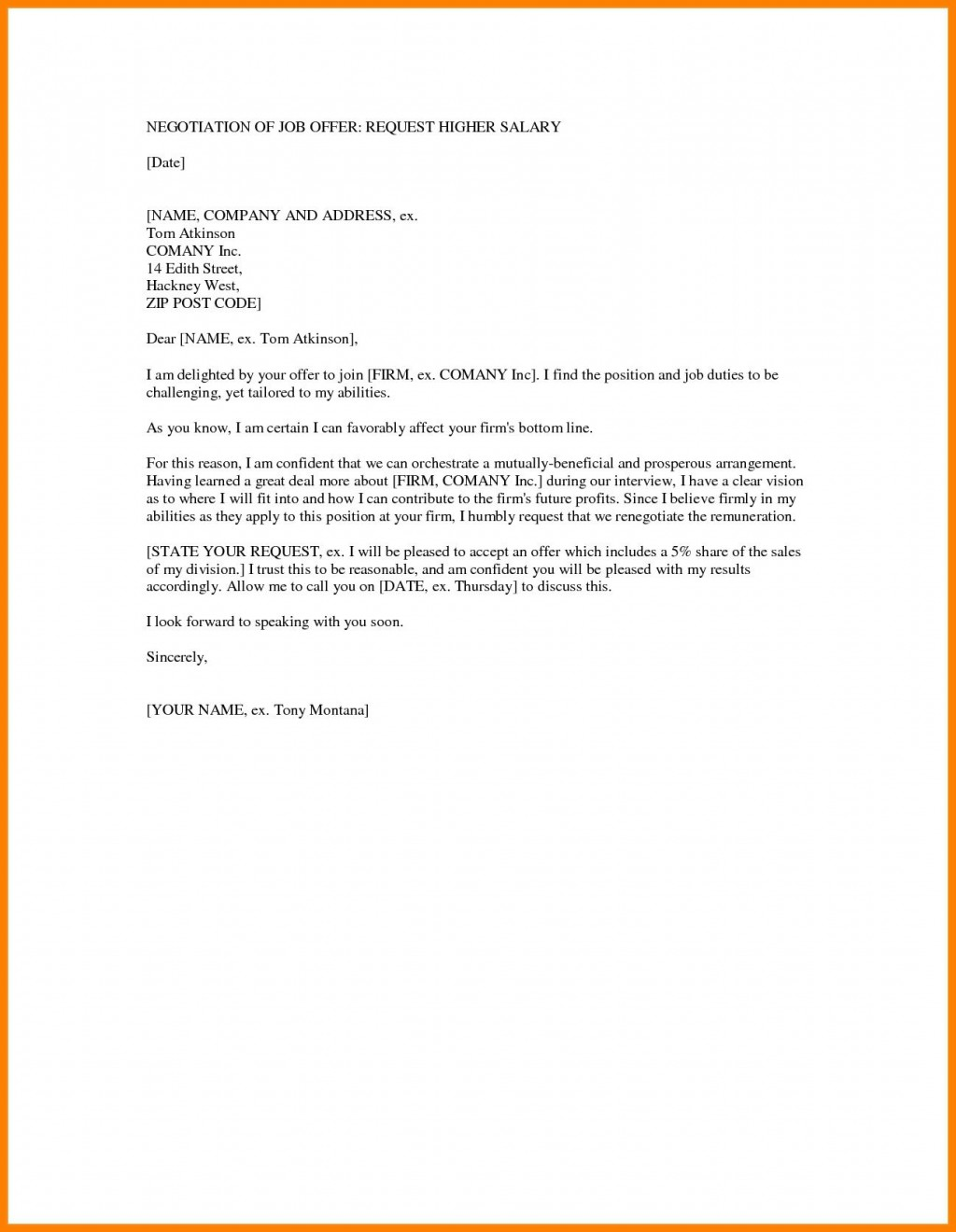 004 Dreaded Counter Offer Letter Template High Definition  Real Estate Settlement DebtLarge