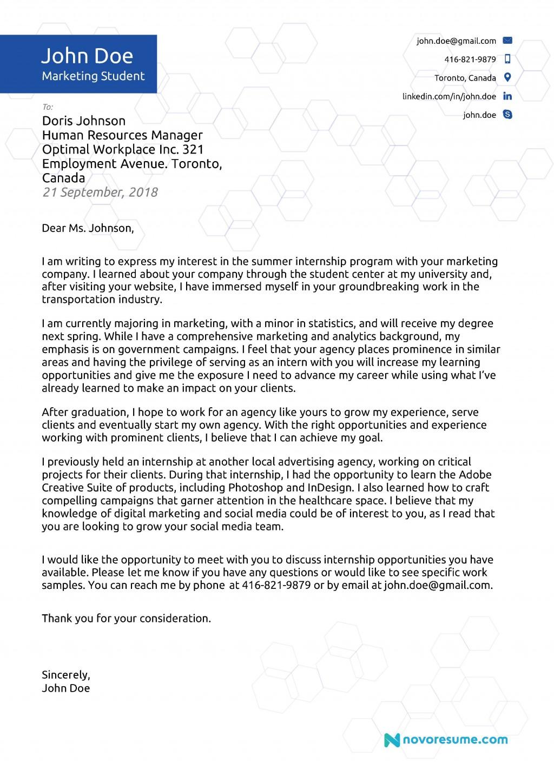 004 Dreaded Cover Letter Template Internship Sample  Example Marketing Position For Civil EngineeringLarge