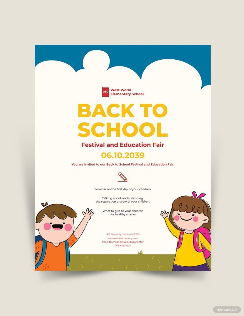 004 Dreaded Free Back To School Flyer Template Word Inspiration Large