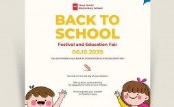 004 Dreaded Free Back To School Flyer Template Word Inspiration