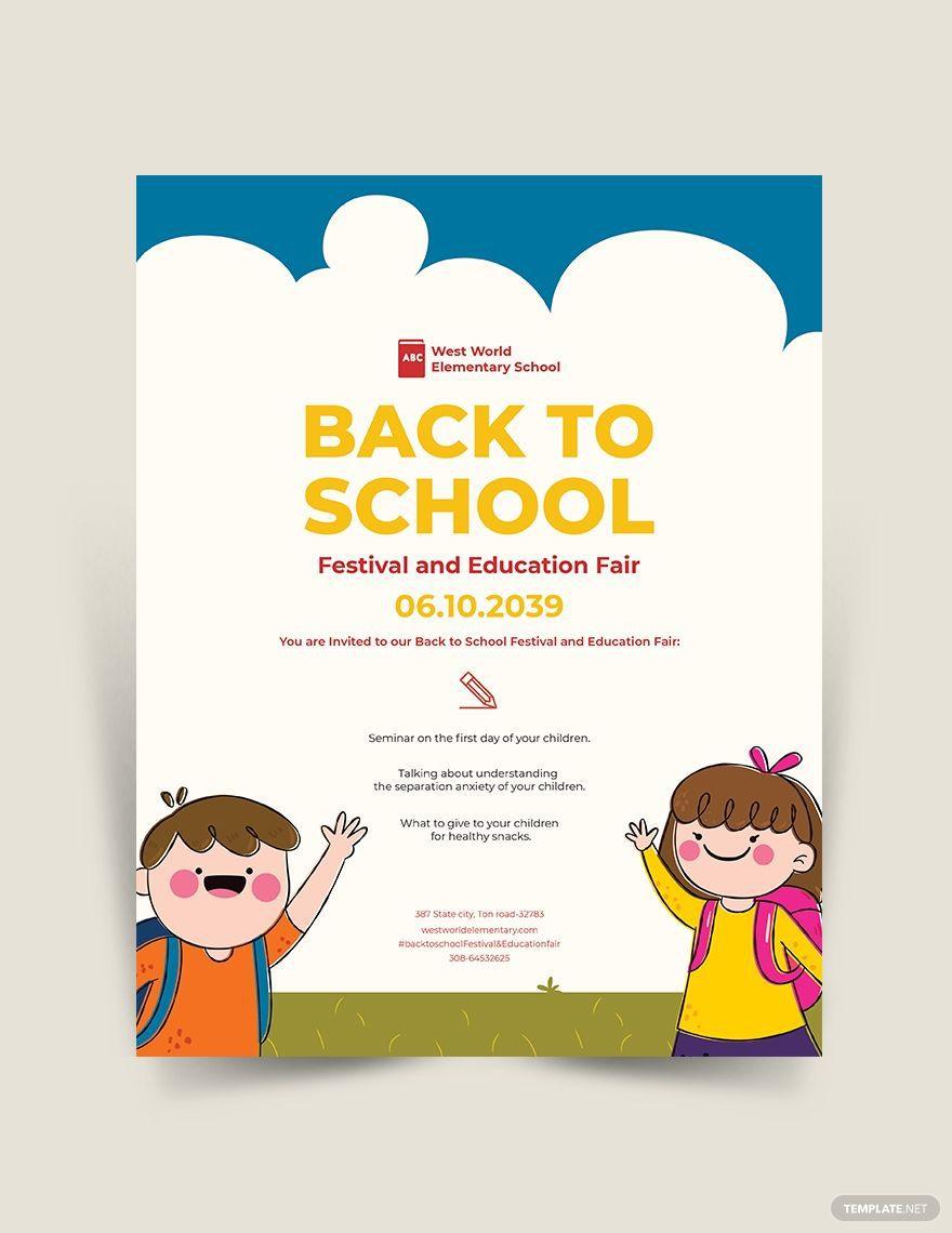 004 Dreaded Free Back To School Flyer Template Word Inspiration Full