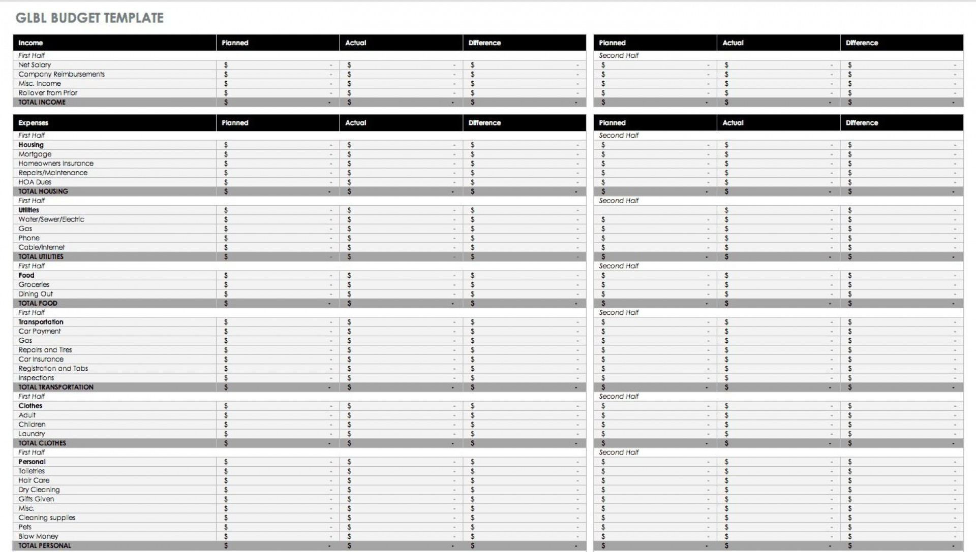004 Dreaded Free Personal Budget Template High Definition  Word Printable Uk Spreadsheet1920