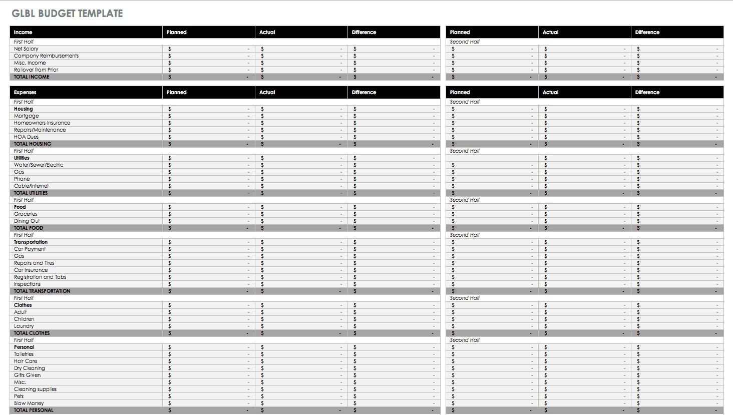 004 Dreaded Free Personal Budget Template High Definition  Word Printable Uk SpreadsheetFull