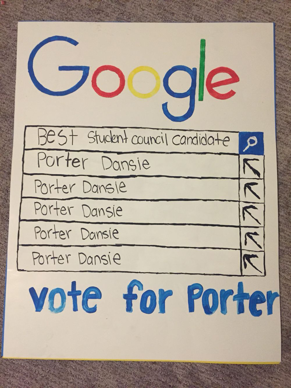 004 Dreaded Free Student Council Campaign Poster Template Photo Full
