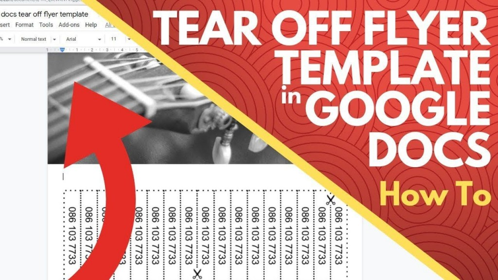 004 Dreaded Free Tear Off Flyer Template Design  Tear-off For Microsoft Word Printable With TabLarge