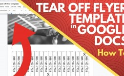 004 Dreaded Free Tear Off Flyer Template Design  Tear-off For Microsoft Word Printable With Tab