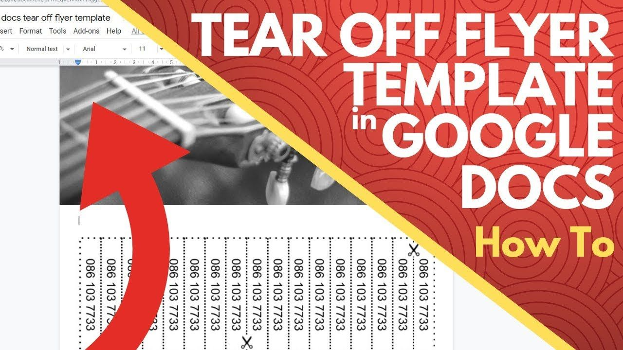 004 Dreaded Free Tear Off Flyer Template Design  Tear-off For Microsoft Word Printable With TabFull