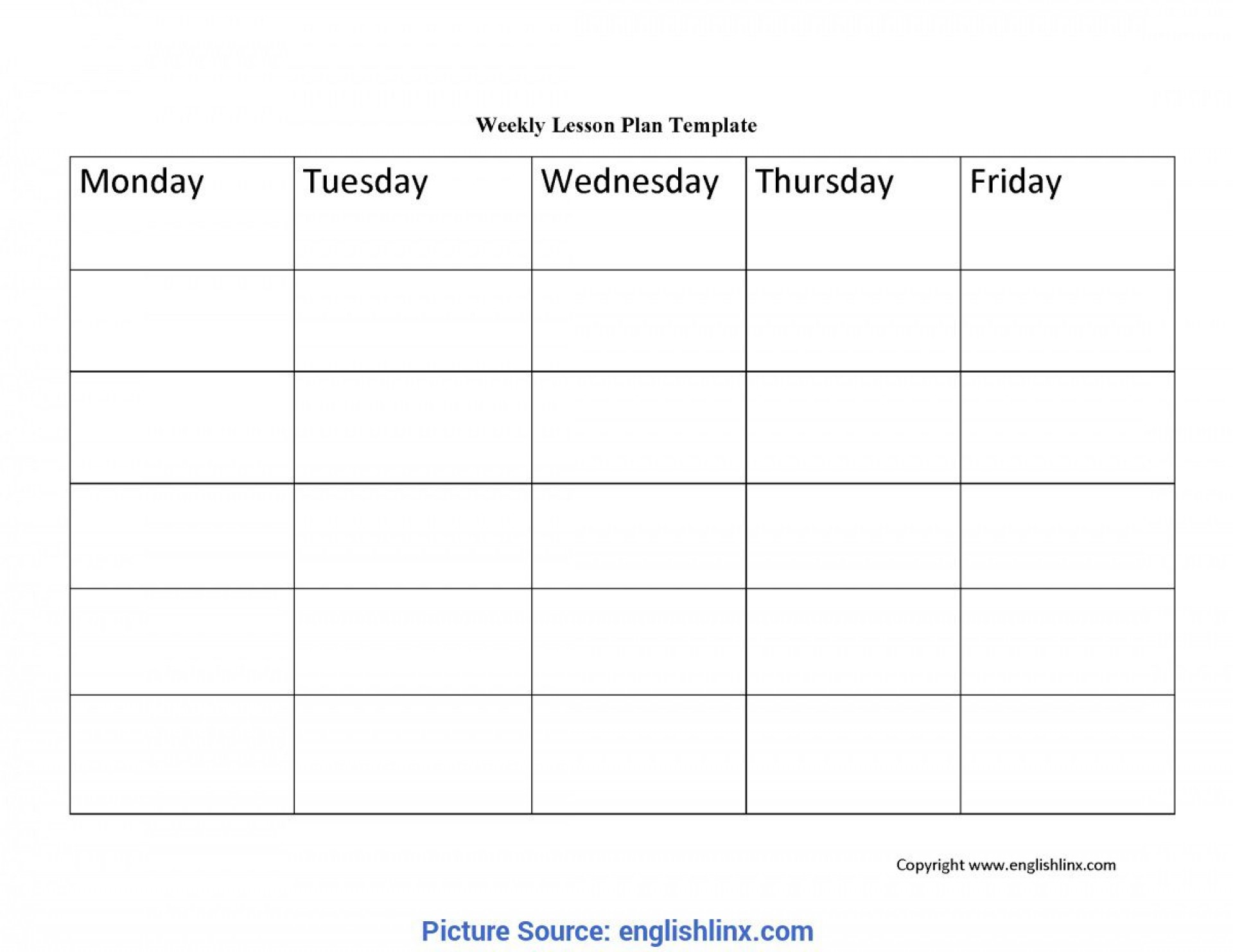 004 Dreaded Free Weekly Lesson Plan Template Image  Pdf Preschool Word For Elementary Teacher1920