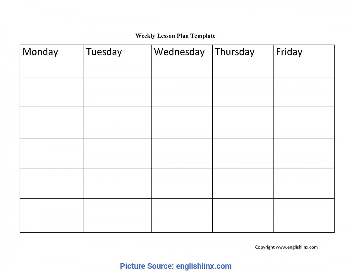 004 Dreaded Free Weekly Lesson Plan Template Image  Pdf Preschool Word For Elementary TeacherFull